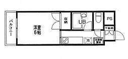 カームマンション明神町[3階]の間取り