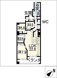 リモージュ徳川[2階]の間取り