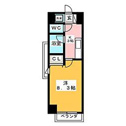 プラウドフラット五橋[12階]の間取り