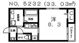 シャインクレスト[203号室号室]の間取り