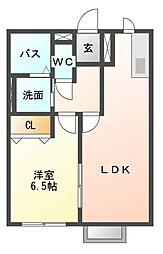 レトアフリージア B[2階]の間取り