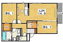 (仮)D-ROOM藤阪西町[1階]の間取り