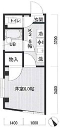 徳山コーポ bt[1階]の間取り