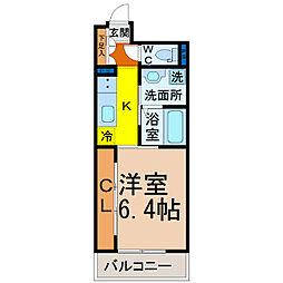 Grandeur Chikusa(グランドゥール千種)[206号室]の間取り