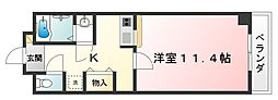 パークサイド甲西[2階]の間取り