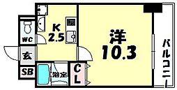 ラ・フォーレ東天満[5階]の間取り