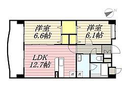 仮称)港3丁目マンション新築工事[7階]の間取り