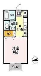セジュール文政 B棟[1階]の間取り