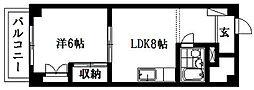チサンマンション浜松和地山[4階]の間取り