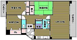 リベラス21[2階]の間取り