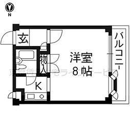 ボーウインドウ東福寺[203号室]の間取り