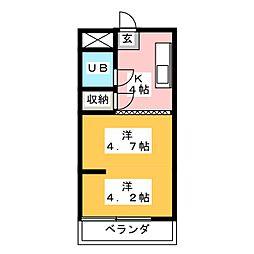 池第一マンション[3階]の間取り