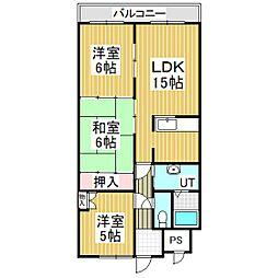 Jステージ若草[11階]の間取り