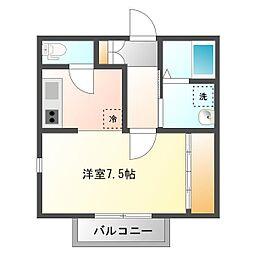 埼玉県志木市幸町の賃貸アパートの間取り