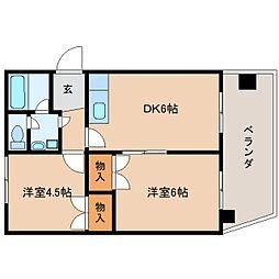 静岡県静岡市駿河区用宗3丁目の賃貸マンションの間取り