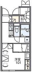 レオパレスコスモエステートA[1階]の間取り