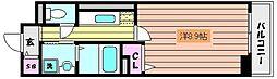 阪急神戸本線 六甲駅 徒歩8分の賃貸マンション 2階1Kの間取り