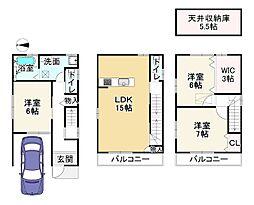 JR山陰本線 梅小路京都西駅 徒歩12分 3LDKの間取り