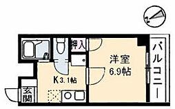 カルチェ佐川[2階]の間取り