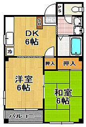小林東マンション1[4階]の間取り