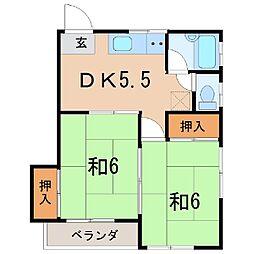 1544フォーブリックイガラベB[2階]の間取り
