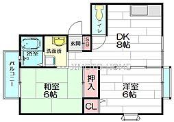 ルレーヴ2番館[2階]の間取り