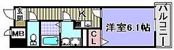 PARK岸和田2[901号室]の間取り