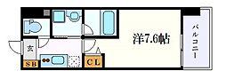 名古屋市営東山線 新栄町駅 徒歩10分の賃貸マンション 6階1Kの間取り
