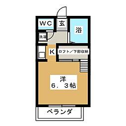チョコ・ハウス[1階]の間取り