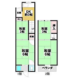 [一戸建] 大阪府東大阪市中小阪5丁目 の賃貸【/】の間取り