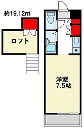 Tコーポ壱番館[105号室]の間取り