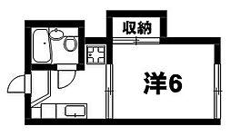 トープ野村[2階]の間取り