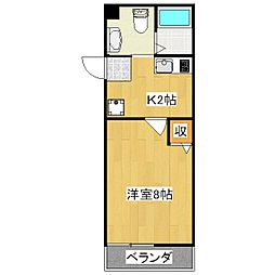 フラッティ吉野町A[303号室]の間取り