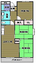 日吉マンション[2階]の間取り