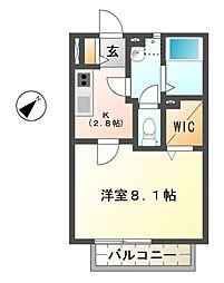 滋賀県東近江市沖野2丁目の賃貸アパートの間取り