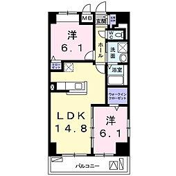 畑田町店舗付マンション[6階]の間取り