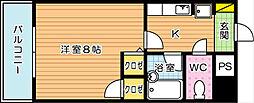 アンデックス折尾[4階]の間取り