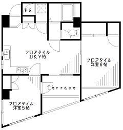 東京都杉並区上荻4丁目の賃貸マンションの間取り