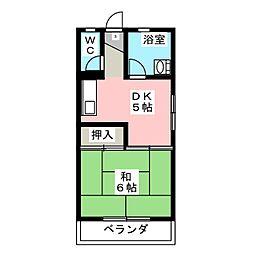 コーポ飛永[3階]の間取り