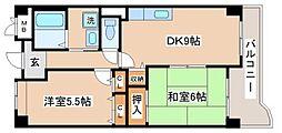 兵庫県神戸市長田区苅藻通4丁目の賃貸マンションの間取り