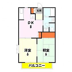 東京都足立区古千谷本町3丁目の賃貸アパートの間取り