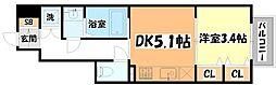 仙台市地下鉄東西線 国際センター駅 徒歩8分の賃貸アパート 1階1DKの間取り