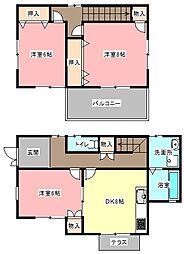 [一戸建] 静岡県浜松市中区和合町 の賃貸【/】の間取り