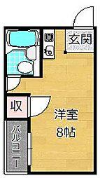 JPアパートメント枚方II[4階]の間取り