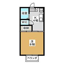スペースシャトル1番館[2階]の間取り