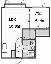 クラージュ清田[2階]の間取り