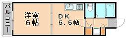 ル・アディッソ福岡[7階]の間取り