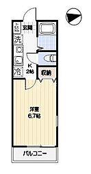 グランディール永田北[2階]の間取り