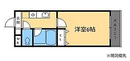グランビューライフ新横浜[205号室]の間取り