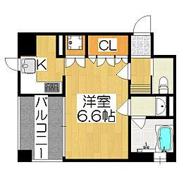 リーガル京都四条烏丸[205号室]の間取り